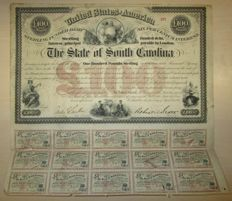 USA - State of South Carolina 6% Loan £100 1871