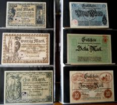 Germany - collection 141 large emergency money 1915/1923 in album