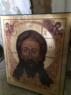 20th century ortodox russian icon of   Vernicle hand painted