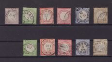 German Empire 1872 - complete set, Michel 1/11