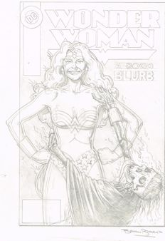 Bolland, Brian - Original pencil drawing and prelimanary cover - Wonder Woman - (1993)