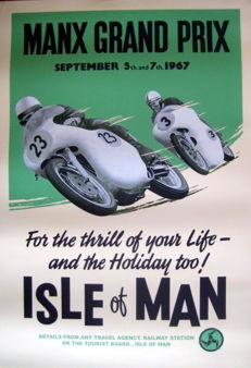 Nostalgic Poster - Manx Grand Prix September 1966 - Isle of Man