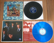 The Rolling Stones- Lot of 2 special releases: Their Satanic Majesties Request (1st Dutch pressing, 1967, w. lenticular (3D) cover) & The Rolling Stones Vol. 2 (Japanese pressing, blue wax + 4-pages insert!)
