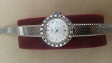Watch in 18 kt white gold with integrated bracelet - 1960s
