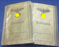 2 German Wehrpasses