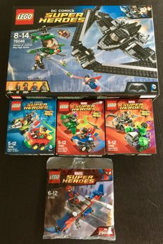 Super Heroes - 5 sets o.a. 76046 + 30302 - Heroes of Justice: Sky High Battle + Spider-Man Glider