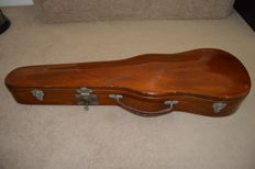 Antique wooden violin case by George Withers & Sons, ca 1900