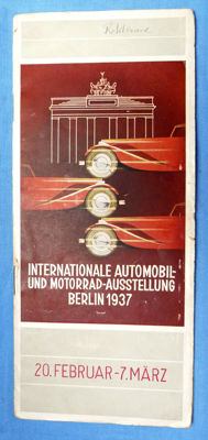 Rare Original 1937 Berlin Automobile Show Brochure