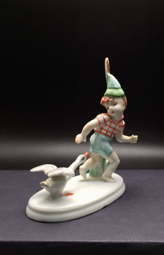 "Metzler & Ortloff - ""Boy with Goose"" - porcelain figure"