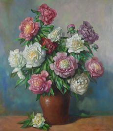 Unknown. (20th century) - A still life of peonies.
