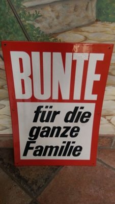 Advertisement board for Bunter - rare and large