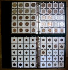 The Netherlands – Duit through 50 guilder coin, 1790/2001 (453 different coins), including 101x silver, in 2 deluxe albums