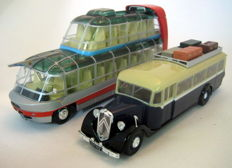 Ixo-Hachette - Scale 1/43 - Lot with 2 buses: Citroën T45-1934/Citroën U55 Cityrama Currus 1955