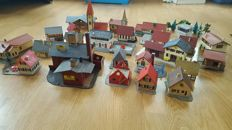 Scenery H0 - various houses, including Pola, Faller, Kibri 25 pieces