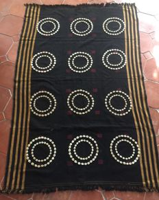 Nagaland fabric, Chang tribe, with seashells.