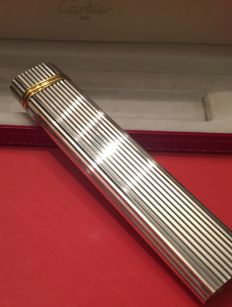 Must de Cartier lighter, silver plated, XXL, tabletop, from the 80s