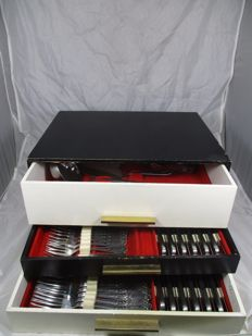 Louis XV Polida boxed massif cutlery - 12 people