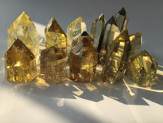 15 Citrine points - 50-63 mm - 800 grams (15)