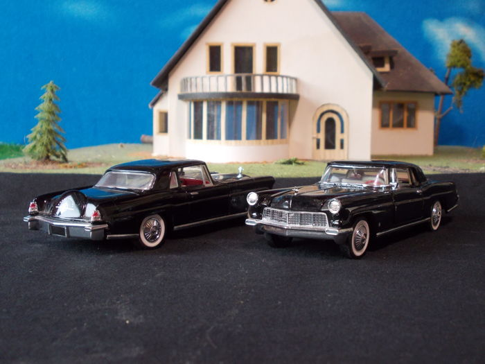 Franklin Mint - Scale 1/43 - Lot with 48  Lincoln Continental MkII - 1956
