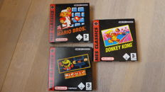3 Gameboy Advance Classic games like Pac-Man, Donkey kong and Super Mario Bros - Boxed