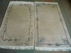A set of two handmade INDIAN rugs 175 x 95 cm