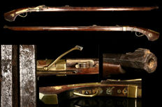 A genuine original Japanese Lane lock rifle from the year 1800