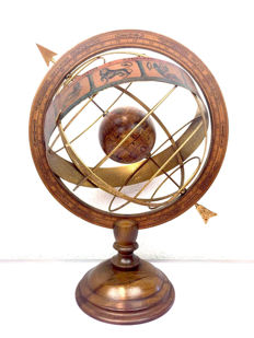 Armillary Sphere to antique model with documentation