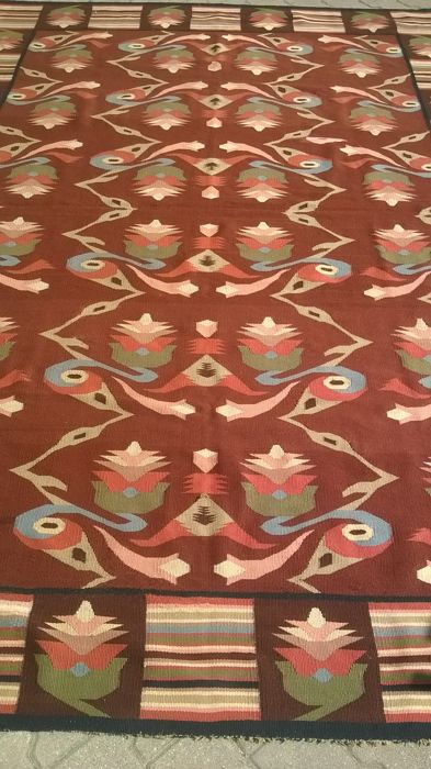 Very beautiful Ukrainian kilim (Lviv) of the period (1920-1930).3 m x 2 m