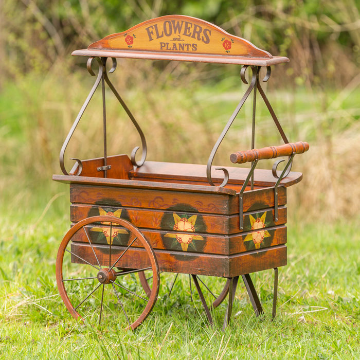 Large decorative handcart