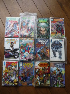 21 (near) complete series - a.o. Brigade, Wildcats, Youngblood, New Men - 135 x sc - (1990's)