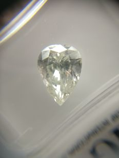 2.02 ct Pear cut diamond G SI2