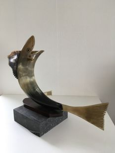 Koi sculpture – China – Second half of the 20th century