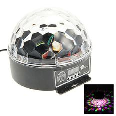 Laser lighting globe - 6 colours - led crystal