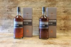 Auchentoshan - Three Wood - 2 Bottles in original boxes