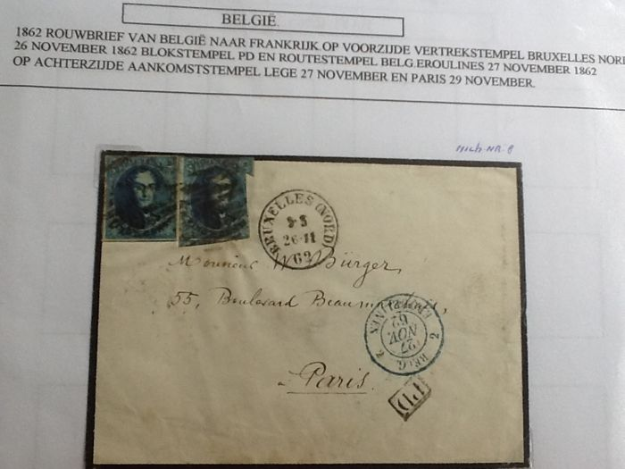 Belgium and Denmark - Collection of letters