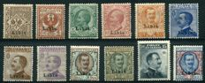 Kingdom of Italy – 1912/15 – Libya overprinted – Sassone no. 1/12
