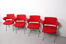 Friso Kramer for Ahrend De Cirkel - set of four Industrial 'Resort' chairs