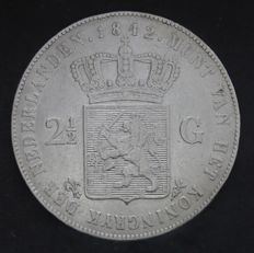 The Netherlands – 2½ guilders 1842, Willem II – silver