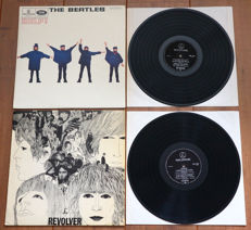 """The Beatles- rare lot of 2x The Beatles in mono: Help! (1st Dutch issue w. UK flipback sleeve) & Revolver (1st Dutch issue w. """"Printed and made by Habo - A'dam"""" sleeve)"""