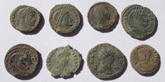 Roman Empire - Lot comprising 8 AE coins (a.o. Gallienus, Constantine, Licinius)