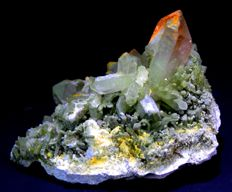 Large Terminated & Undamaged Green Chlorine Quartz Crystals Specimen -  130 x 80 x 85 mm - 667 Gram