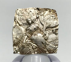 """""""Uniface Pattern/Trial strike"""" - silver medal """"King Carol I (Hohenzollern-Sigmaringen) 25 years of reign"""" - Romania -  1891"""