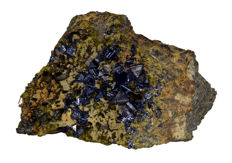 Natural Magnetite with Epidote Specimen - 104 x 66 x 52 mm - 460 gram