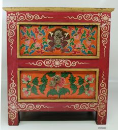 Wooden cupboard - Tibet - second half of the 20th century