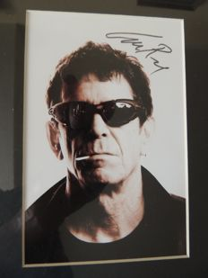 Lou Reed - Stunning - Signed Picture Reprint - Framed