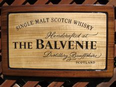 The Balvenie - Big unique handmade sculpting logo made from wood