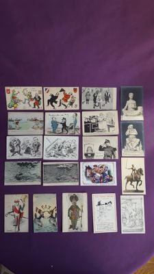 Lot of 83 novelty cards with various themes