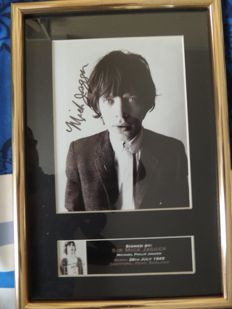 Iconic - Rolling Stones Memorial Reprinted Signed Picture - Mick Jagger - And two Rolling Stones Original 50th Annerversary Stones Dollars  In The Stones We Trust