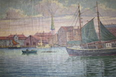 Georg Valdemar Gundorff - Harbor of Copenhagen