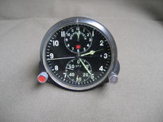 Poljot Chronograph ( AChS-1 ) - Original Russian military aviation clock for the MiG-23 supersonic fighter jet (СССР/USSR) - 1970.